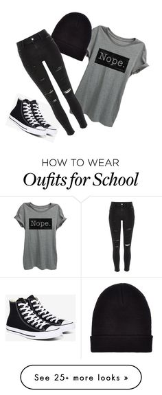 """Classic School"" by meghanereilly on Polyvore featuring Converse, New Look and…"