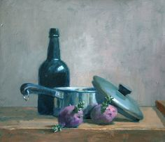 """""""Sprouting Potato"""" oil painting by the late, Thomas S. Buechner. More of his available still-lifes may be viewed here: http://www.westendgallery.net/photo-gallery/artist-gallery-thomas-buechner-still-lifes"""