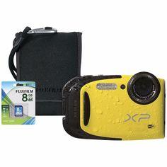 Fuji XP80 16MP Digital Camera Bundle  5x Optical Zoom  Black Open Box