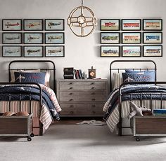 RH Baby & Child's Millbrook Iron Bed:Inspired by an antique, this versatile collection has a nostalgic design reminiscent of many an American childhood.