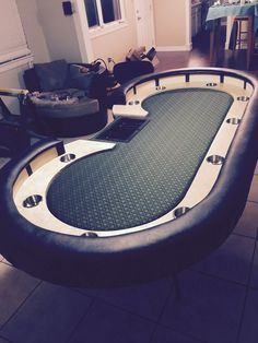 See more ideas about poker table, poker table diy and man cave construction Custom Poker Tables, Poker Table Diy, Party Poker, Casino Table, Poker Night, Casino Theme Parties, Casino Night, Casino Games, Table Games