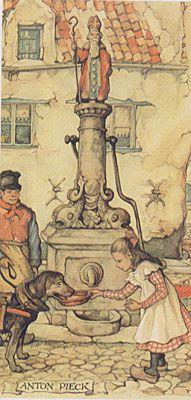 Anton Pieck 7.5 x 15 cm per 6 st. 0384