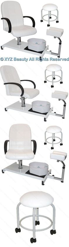 """Spas Baths and Supplies: White Pedicure Station Hydraulic Chair And Massage Foot Spa Beauty Salon Equipment BUY IT NOW ONLY: $299.88 #""""BeautySalonSupplies"""""""