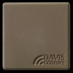"This is a photo of an actual 3"" x 3"" concrete tile sample integrally colored with Davis Colors' Yosemite Brown (pigment # 641). This video reproduction is just for ideas. Please finalize your color selection from our printed color card, hard tile samples or job site test."