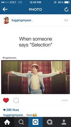 My friends don't like me. My fellow selections era don't like me. I am a selection freak.