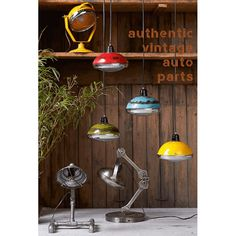 Urban Vintage Vespa Pendant Lighting that are headsets round lights for ceilings for the home and bars in a cool quirky design red, green reclaimed lamps British made Vintage Industrial Lighting, Industrial Pendant Lights, Pendant Lighting, Ceiling Pendant, Ceiling Lights, Pendant Lamps, Pendants, Look Retro, Lighting Companies