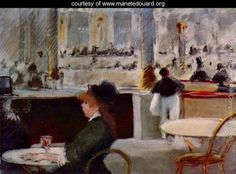 Interior of a Cafe - Edouard Manet - www.manetedouard.org