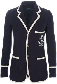 098aa626bcf5b6 Ralph Lauren Nautical Blazer dressmesweetiedarling Vestes, Veste Marine,  Blazer, Tenues Chics, Tenues