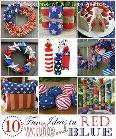 Ten Fun and Easy Ideas in Red, White and Blue | CONFESSIONS OF A PLATE ADDICT | Bloglovin'