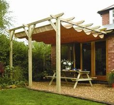 Rowlinson Sienna Wooden Lean To Canopy Pergola