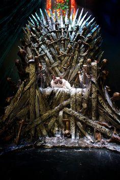 Grumps on iron throne