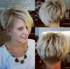 Short hairstyle with #backview