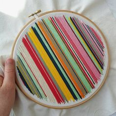 STRIPES embroidery hoop art Stripes, Cross Stitch, Embroidery, Arts And Crafts, Sewing, Artist, Diy, Needlepoint, Fashion