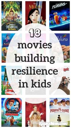 There are always adversities in life, so it is important to build resilience in kids to stay strong going difficult times in life. These 18 movies are great stories about resilience, good for kids of all ages, from preschool to elementary school to high school.