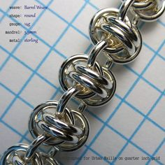 Barrel Weave -- A free, online tutorial from Urban Maille
