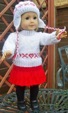 American Girl Doll. Hearts & Kisses Set PDF Knitting Pattern No 15. $4,00, via Etsy.