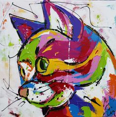 Cats face paint acrylic Ideas for 2019 Funny Paintings, 6th Grade Art, Mini Canvas Art, Rainbow Art, Cat Drawing, Whimsical Art, Cat Art, Art Pictures, Illustration Art