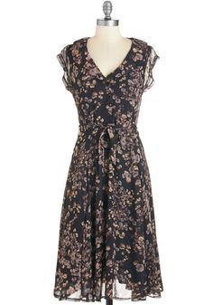 1930s dresses fashion Stealth and Stylish Dress in Night Blossoms