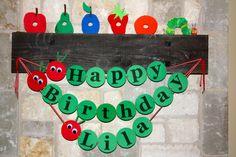 very hungry caterpillar birthday sign Birthday Fun, First Birthday Parties, Birthday Party Themes, First Birthdays, Birthday Ideas, Birthday Bunting, Kids Party Themes, Party Ideas, Hungry Caterpillar Party