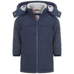 ce54c2131c85d BOSS Baby Boys Navy Puffer Coat With Detachable Hood