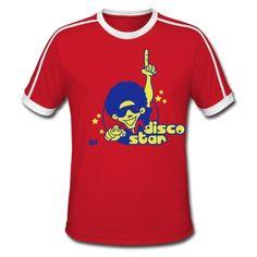 Disco Star T-Shirt. #Spreadshirt #Cardvibes #Tekenaartje #disco #70s #dance #SOLD