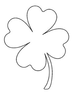 Printable full page large four leaf clover pattern. Use the pattern for crafts, . - Printable full page large four leaf clover pattern. Use the pattern for crafts, creating stencils, - Shamrock Template, Leaf Template, Shamrock Printable, Clip Art Library, Four Leaf Clover, Applique Patterns, String Art, Pattern Art, St Patricks Day