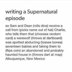 writing a supernatural episode Supernatural Episodes, Supernatural Funny, Destiel, Johnlock, Nos4a2, The Lord, Super Natural, Superwholock, Werewolf