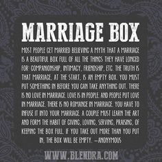 The Marriage Box full of Love Dares | Blendra