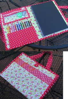 Sewing Hacks, Sewing Tutorials, Sewing Patterns, Sewing For Kids, Diy For Kids, Sew Wallet, Diy Crafts To Do, Art Folder, Diy Couture
