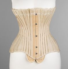 1897-1899, american corset out of english netting, probably summer corset