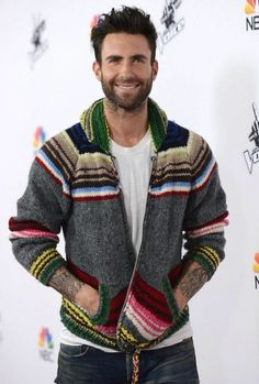 There is something about grandpa sweaters that is hot #AdamLevine