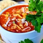 My favorite taco soup add sliced whole tomato's makes it perfect.