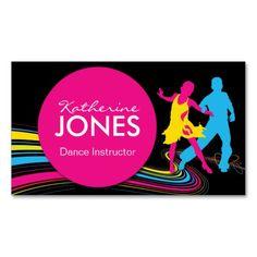 Dance Instructor Business Car Business Card Templates
