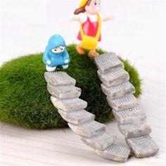 FD2195 new Miniature Dollhouse Garden Craft Fairy Bonsai Decor ~Random Stairs~ 1PC