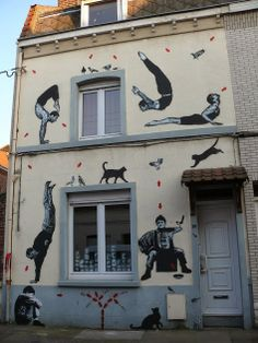 Street art in Fâches-Thumesnil, France, by Jef Aerosol. Photo by Jef Aerosol.