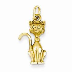 14k Tom Cat Charm / Pendant