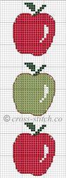 Resultado de imágenes de Google para http://www.cross-stitch.co/_images/bookmarks/apple-cross-stitch-bookmark.jpg