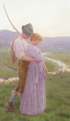 A tender moment, William Henry Gore (1880-1916) / Private Collection.