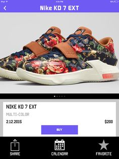 sports shoes 22010 c3742 I m so in love  kd7  floral. Maddie Filio · ZAPPATOS✨ · Nike Kevin Durant  ...