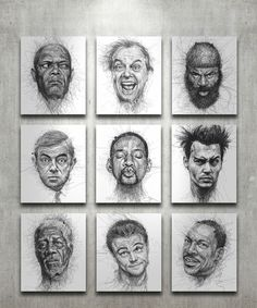 Faces // Vince Low (malaysian artist)