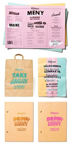 Calexico's Branding by Snask - i like the fun printed bag idea for cute wedding favour treat bags