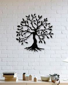 Ağaç  Metal Plaka - Tree