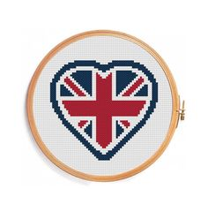 I love you UK / Heart United King by PatternsCrossStitch on Etsy