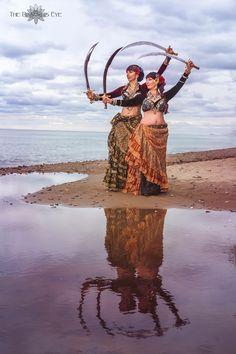 Tribal Fusion, Sword Dance, Belly Dance Skirt, Tribal Costume, Gypsy Chic, Tribal Belly Dance, Belly Dance Costumes, Dance Fashion, Beautiful Friend