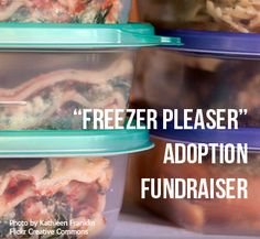 Freezer Pleaser Adoption Fundraiser - Raffle off a freezer filled with a month's worth of meals. Price raffle tickets at $5 each or 5 for $20.