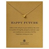 Dogeared Happy Future Origami Swan Necklace, 18""