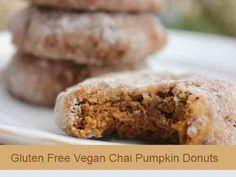 Gluten Free Vegan Chai Pumpkin Donuts