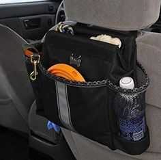 28 Ingenious Things For Your Dog You Had No Idea You Needed — Keep everything in place while traveling with this dog car organizer. Pet Dogs, Dogs And Puppies, Doggies, Baby Dogs, Chihuahua Dogs, Dog Organization, Education Canine, Dog Travel, Service Dogs