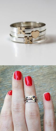 Initial Knuckle RIngs