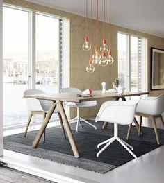 Contemporary chair / oak / steel / ash - VISU by Mika Tolvanen - Muuto